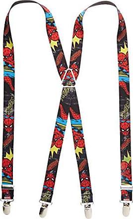 Buckle Down Buckle-Down Mens Suspender-Spider-Man, Multicolor, One Size
