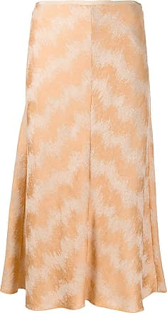 Forte_Forte metallic thread patterned skirt - Neutrals