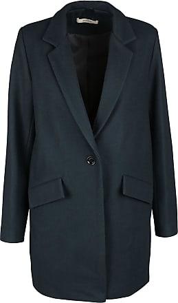 Manteau femme droit bleu marine
