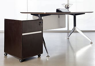 Unique Furniture 300 Collection 55 in. Computer Desk with Mobile Pedestal - Espresso - JOLL443-1