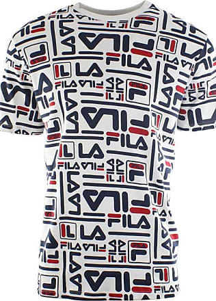 Fila Mens Charlie All Over Logo Print T-Shirt