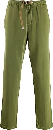 White Sand belted straight-leg trousers - Verde