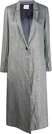 Forte_Forte single buttoned long coat - Blue