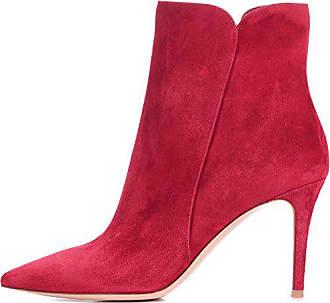 f26622eac8f33a elashe Ankle Boots Damen - Stiefeletten mit Absatz in Wildleder Rot EU37