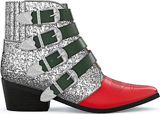 Toga Archives Ankle boot de couro - SILVER