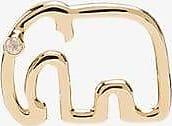 Yvonne Léon Womens 9k Yellow Gold Elephant Stud Earring