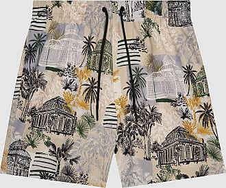 Reiss Richmond - Printed Swim Shorts in Sand, Mens, Size XXL