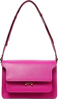 Marni Marni Woman Trunk Small Leather Shoulder Bag Magenta Size