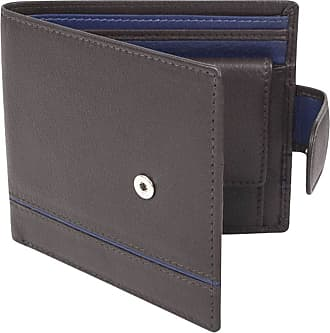 Dents Mens Smooth Two Tone RFID Blocking Wallet - Chocolate/Royal Blue