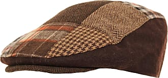 Universal Textiles Mens Patchwork Winter Flat Cap with Wool (58cm) (Brown)