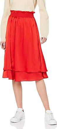Pieces Womens Pcbuster Mw Skirt, Orange (Aura Orange), S