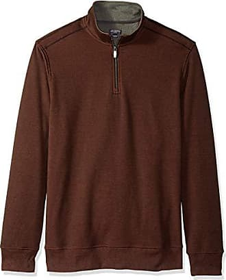 Van Heusen Mens Big and Tall Flex Fleece Long Sleeve Quarter Zip, red picante, 4X-Large Big