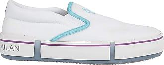 Marcelo Burlon Cross Cotton Slip-on Sneakers, 43 White