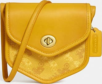 Coach Turnlock Flap Pouch 15 With Horse And Carriage Print in Yellow