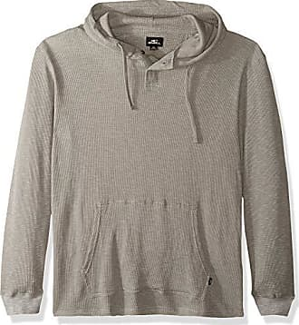 O'Neill Mens Light Weight Pullover Sweatshirt Hoodie, Grey/Jasper, L