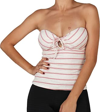 Hang Loose Blusinha Hang Loose Stripe Linen Twisted - Rosa - M