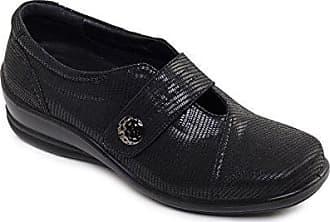 cb6117a0536a Padders Damen Mikrofaser-Schuhe Simone 2   Dual Fit System   Große E-EE