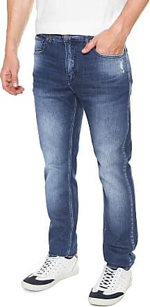 Calvin Klein Jeans Calça Jeans Calvin Klein Jeans Slim Estonada Azul