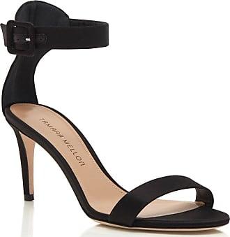 Tamara Mellon Heroine Black Satin Sandals, Size - 35.5