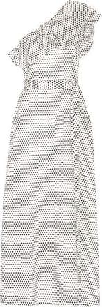 Lisa Marie Fernandez Arden One-shoulder Polka-dot Cotton-voile Maxi Dress - White