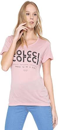 Colcci Camiseta Colcci Lettering Rosa
