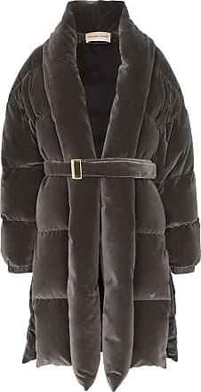 Alexandre Vauthier padded belted coat - Cinza