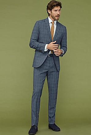 Le 31 Chambray Prince of Wales suit London fit-Semi-slim