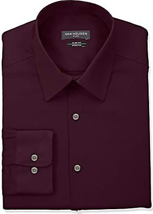 Van Heusen Mens Dress Shirt Slim Fit Flex Collar Stretch Solid, Hearth, 18.5 Neck 34-35 Sleeve