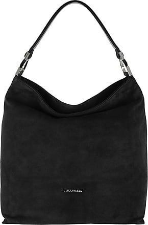 Coccinelle Keyla Suede Hobo Bag Noir Hobo Bags zwart