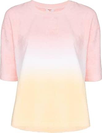 Terry Camiseta Terry em degradê de algodão - Rosa