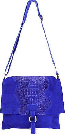 Your Dezire Ladies Suede Leather Snake Skin Cross Body Messenger Bag Women Shoulder Over Bags Handbags (Royal Blue)