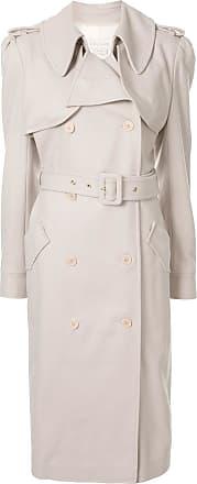 Karen Walker Magmatic buttoned trench coat - NEUTRALS