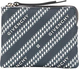 Givenchy logo diagonal stripe coin purse - Azul