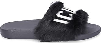 Dsquared2 Slippers LAPIN fur Logo black
