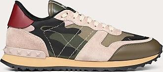 Valentino Garavani Valentino Garavani Camouflage Rockrunner Sneaker Women Military Green Cotton 66%, Polyester 34% 34.5