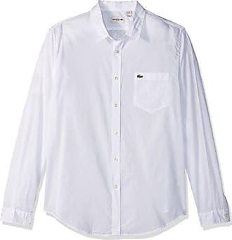 185a38beb403 Lacoste Mens Long Sleeve Cotton Voile Slim Fit Woven Shirt