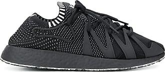 Yohji Yamamoto perforated logo sneakers - Black