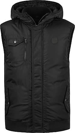Solid Dafino Mens Quilted Gilet Vest Body Warmer with Hood, Size:XL, Colour:Black (9000)