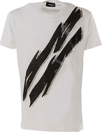 Dsquared2 T-Shirt for Men On Sale in Outlet, White, Cotton, 2019, L M S