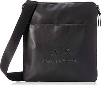b815603c64 Armani Medium Flat Crossbody Bag - Borsa Messenger Uomo, Nero (Black/Gun  Metal