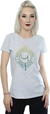 Harry Potter Womens Wingardium Leviosa Spells Charms T-Shirt Medium Sport Grey