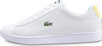 160a43961c0 Lacoste Homme Carnaby Evo Blanche Et Jaune Baskets