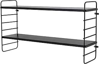 Mink Interiors Double shelf in black - Black