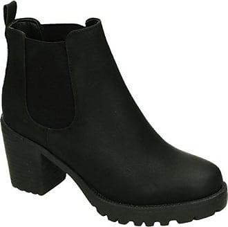 1f0b8901e2d67 King Of Shoes Bequeme Damen Stiefeletten Ankle Boots Plateau Knöchelhohe  Stiefel Blockabsatz Kurzschaft 059 (37