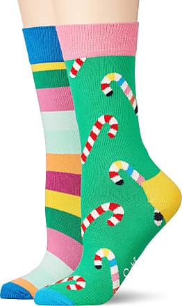 Happy Socks Womens Christmas Cracker Candy Cane Gift Box Socks, Multicolour (Multicolour 730), 4-7 (Size:36-40)