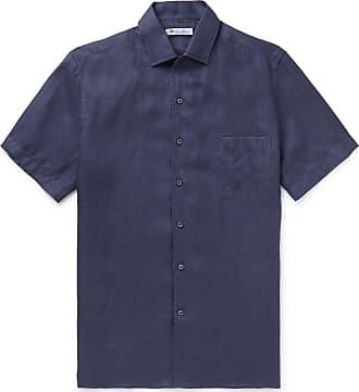 Loro Piana Paul Linen Shirt - Navy
