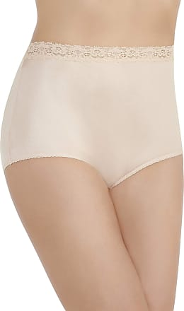 Vanity Fair Womens Perfectly Yours Nylon with Lace Brief Panty 13060, Rose Beige, Medium