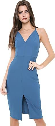 Colcci Vestido Colcci Curto Recortes Azul