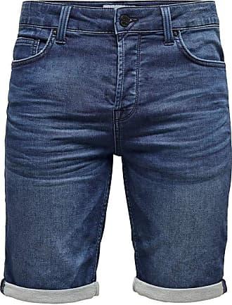 Only & Sons Mens Onsply Reg D Sw Pk 5230 Noos Shorts, Blue Denim, 29