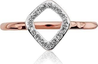 Monica Vinader Riva Mini Kite Stacking Diamond ring - GOLD